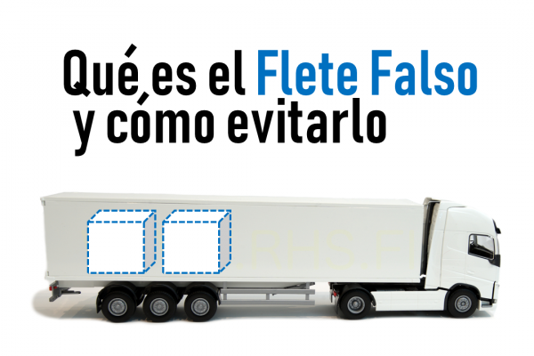 Imagen de camión ejemplo de flete falso